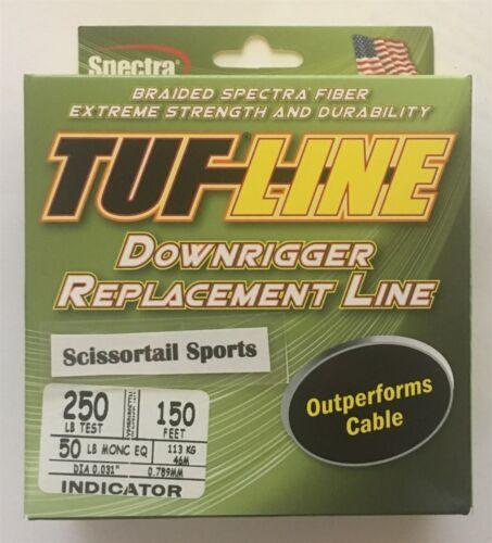Indicator Tuf-Line Downrigger Line 250 lb 150 ft NEW