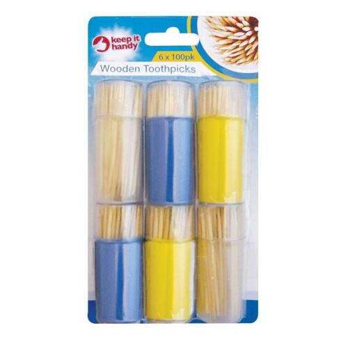 600 Wooden Toothpicks Tooth Picks Fruit Cherry Olive Cocktail Sticks Party OTL