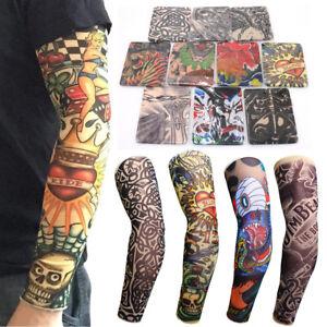 10pcs Tattoo Cooling Arm Sleeves Cover Basketball Golf Sport UV Sun ...