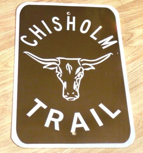 HEAVY METAL REFLECTIVE 18X12 CHISHOLM TRAIL REAL ROAD SIGN