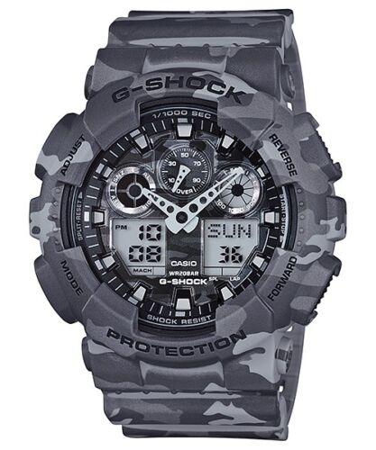 1 of 1 - Casio G-Shock Analogue/Digital Mens Camouflage Series Grey Watch GA100CM-8A GA-1
