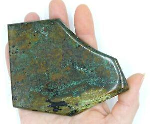 Polished-Western-Australia-Chrysocolla-Malachite-Slice-In-Matrix-Free-Stand-Slab