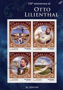 Stable Otto Lilienthal Le Planeur King Aircraft Flight Stamp Sheet (2016 Sierra Leone)-afficher Le Titre D'origine Prix RéDuctions