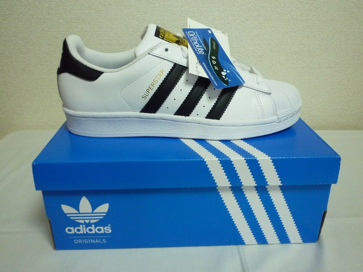 Adidas Originals Superstar Women's shoes C77153 WhiteBlackgold Label US size7.5