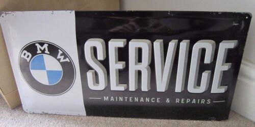 BMW GARAGE SERVICE /& REPAIRS EMBOSSED XL METAL SIGN 50X25cm   GERMAN 320//X5//X1