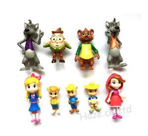 Juguete Anime Figura 9pcs Oso Casa Colección De Decoración Y Detalles Muñeca Popular Goldie TlJKFc1