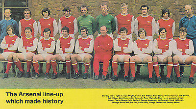 ARSENAL FOOTBALL TEAM PHOTO>1970-71 SEASON
