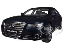 AUDI A8 L W12 NIGHT BLUE 1/18 DIECAST MODEL CAR BY KYOSHO 09231 NB