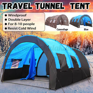 8-10-Person-Waterproof-Camping-Tent-Super-Large-Room-Outdoors-Portable-Shelter