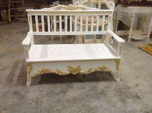 Panca in legno foglia oro camera da letto mobili arredo casa salotto