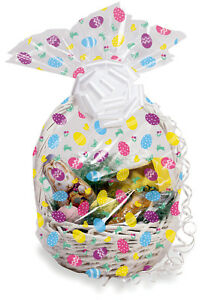 6 x easter eggs hamper wrap cellophane basket gift wrap large cello image is loading 6 x easter eggs hamper wrap cellophane basket negle Images