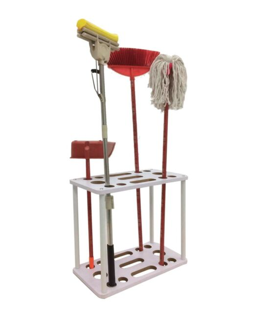 Long Handle Tool Organizer Garage Garden Tool Storage Rack For