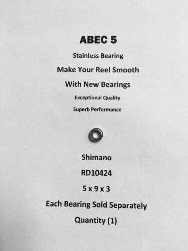 Shimano Spheros 8000FB RD10424 ABEC5 Stainless Line Roller Bearing 5x9x3 #08