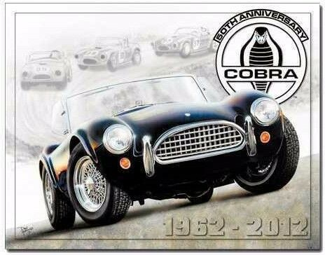 Vintage Replica Tin Metal Sign Shelby Cobra Ford Mustang 5.0 50th Fastback 1847