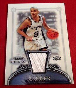 Tony Parker 2007-08 Bowman Sterling Game Worn Relic Card