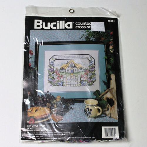 Our Little House Cross Stitch Kit Bucilla 14 x 11 Lorna Morley McRoden