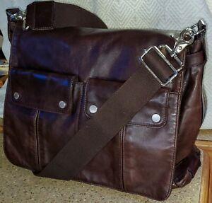 Unisex Brown Cross Body Messenger Bag