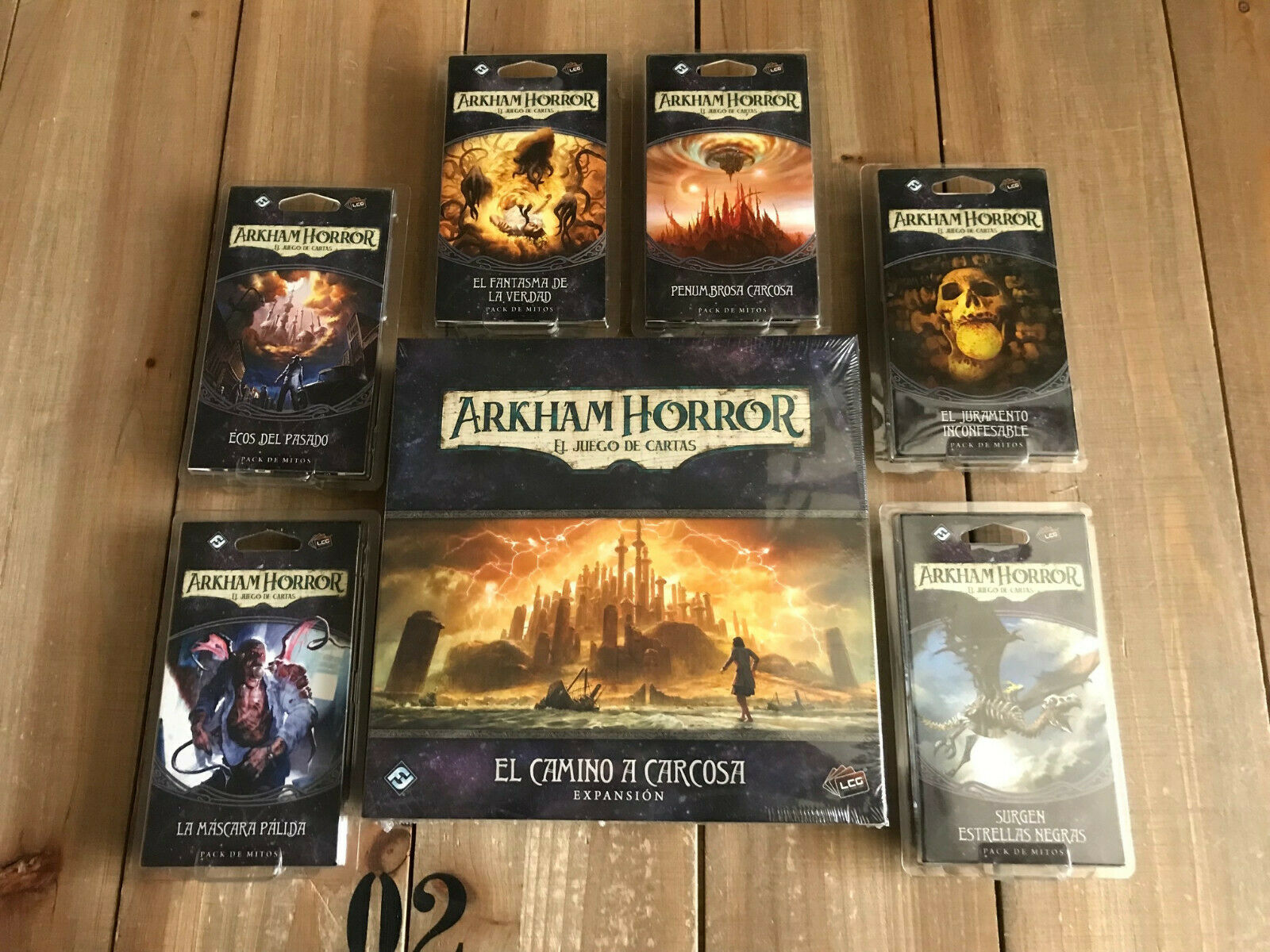 Arkham Horror  El Game Letters - El Road to Carcosa Cycle Complete - Ffg