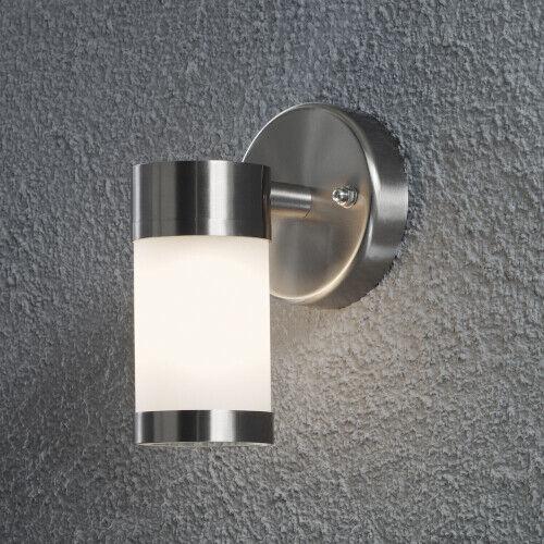 Lámpara de parojo exterior halogen manchas de acero inoxidable vaso gefrostet lámpara exterior parojo de la casa ip44