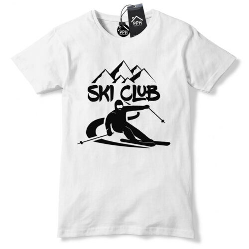 Ski Club Skiing Alpine T Shirt Mens Womens Ski Layer Snowboard Tshirt Skiing 497