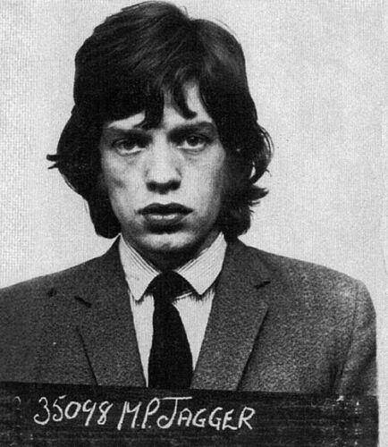 "Mick Jagger Mug Shot The Rolling Stones 14 x 11/"" Photo Print"
