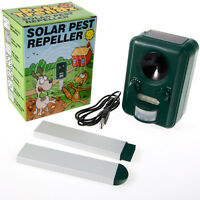 PetzTrendz Solar Cat Repeller Garden Animal Scarer Sonic Pest Deterrent Dog Fox