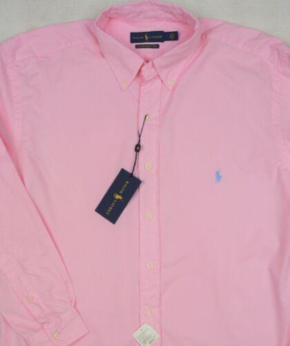 Ralph Lauren Pink Featherweight Twill Button-Front Shirt 3XB 3XLT NWT