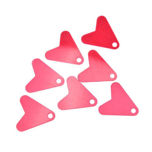 50X Kunststoff Rot Wärme Form Pailletten Für DIY Metall Löffel Angelköder Hoo