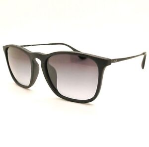 f03fe497f1 Ray Ban RB 4187 F Asian Fit Chris 622 8g Black Rubber Gradient New ...