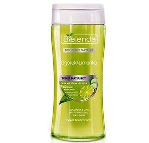 Bielenda DETERGENTE VISO TONICO TONER cucmber Lime mattifyinf per la pelle grassa 200ml