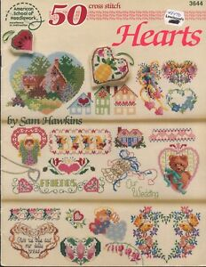 Counted-Cross-Stitch-Patterns-Hearts-50-Projects