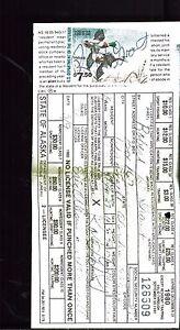 ALASKA-1980-Hunting-Fishing-License-DUCK-STAMP-RW47-STATE-FISH-stamp-34