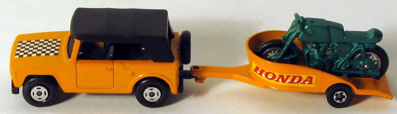 DTE Lesney Matchbox Twin Pack TP-8 arancia de tablero de ajedrez campo Car & verde Honda