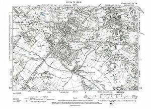 image is loading old map streatham south west norwood 1896 london