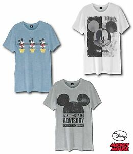 Mens-Official-Disney-Mickey-Mouse-Character-Short-Sleeve-T-Shirt-Top-100-Cotton