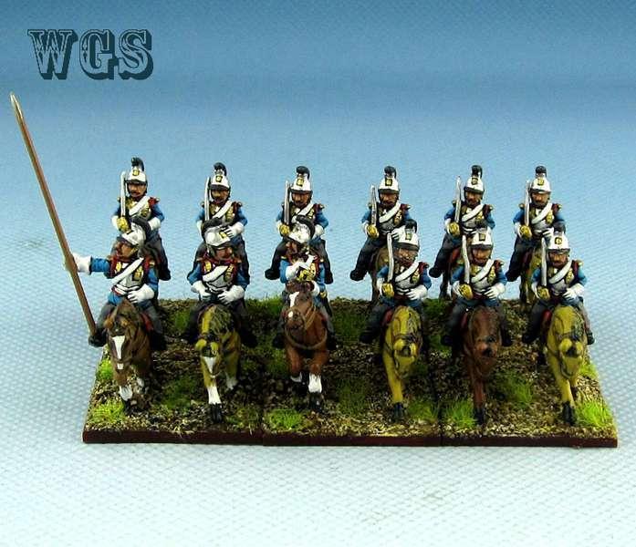 15mm Franco - preussiska krigskrigståg målade preussiska bayerska kavalleri Cuirassier PFC2
