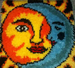 Sun Amp Moon 16x16 Latch Hook Kit Free S Amp H Ebay