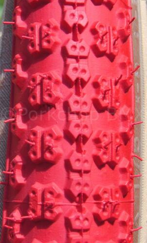 "PAIR Kenda Comp 3 III old school BMX skinwall gumwall tires 24/"" X 1.75/"" RED"