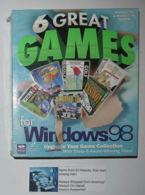 6 Great Games for Windows 98 (PC, 1999) Brand New Still Sealed NIB