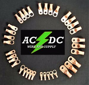 AC//DC Wire Bare Copper Lug Ring Terminals Battery