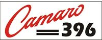 C044 Camaro 396 Chevy Chevrolet Muscle Car Vehicle Hot Rod Banner