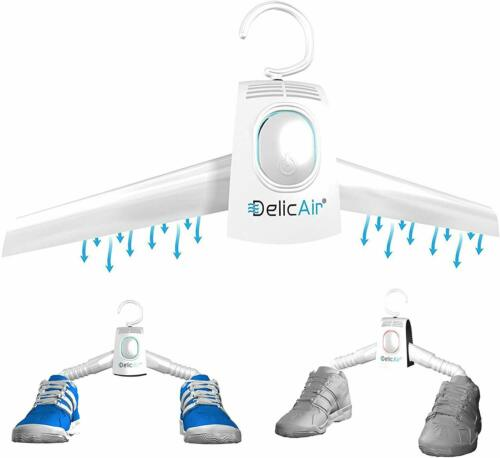 DelicAir Portable Dryer Clothes Hanger And Shoe Dryer With HOT AND COLD Drying