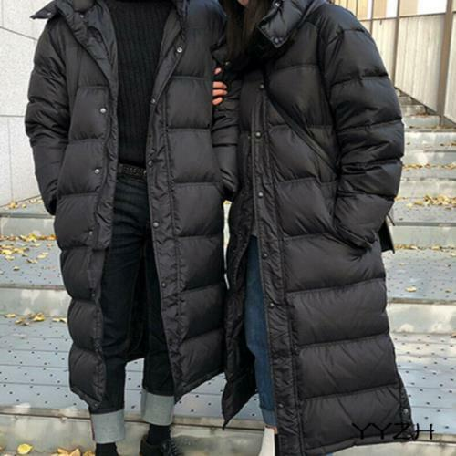 Mens Hooded Overcoat Winter Duck Down Coat Jacket Warm Parka Long Outerwear 2020