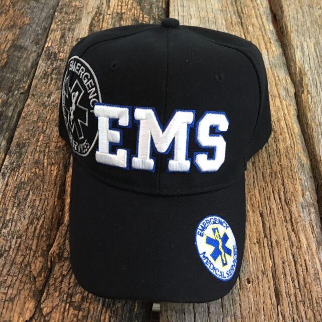 8c8595f4216 Black Emergency Medical Technician EMS Paramedic Baseball Cap Hat Caps Hats  EMT