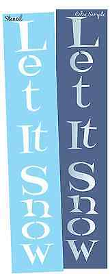 Joanie STENCIL Let It Snow Country Prim Winter Holiday Art Vertical Sign U Paint