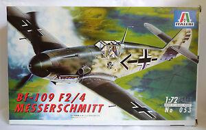1-72-ITALERI-MESSERSCHMITT-Bf-109-F2-4-WWII-REF-053-NUOVO