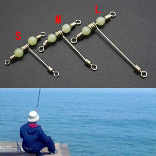 Fishing 3 Way Rolling Swivel T-shape Cross-line Mini L Beads with M S Lumin S6U0
