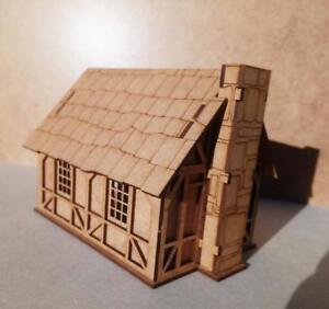 28mm-Fantasy-Tudor-Style-Small-House-T4B-2mm-MDF-Laser-Cut-Kit