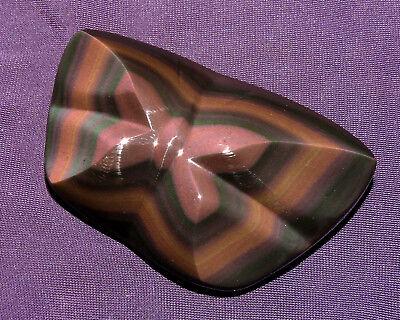 Geschickt Regenbogenobsidian Aus Mexico Schmetterling, 66,9g 66x43x18mm Reichhaltiges Angebot Und Schnelle Lieferung