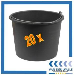 Baueimer 10 St a 12 Liter Mörteleimer Mörtelkübel Farbeimer Eimer Wassereimer